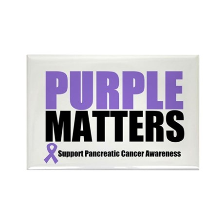 Pancreatic Cancer Rectangle Magnet (10 pack)