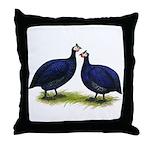 Royal Purple Guineas Throw Pillow