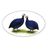 Royal Purple Guineas Oval Sticker (50 pk)