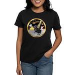 Night Flight/Pug (black) Women's Dark T-Shirt