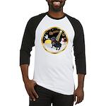 Night Flight/Pug (black) Baseball Jersey