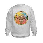 XmasMusic2/Dachshund (WH)#11 Kids Sweatshirt