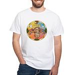 XmasMusic2/Dachshund (WH)#11 White T-Shirt