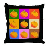 Pop-Art Pumpkins Throw Pillow