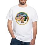 XmasMagic/Lab (yllow) White T-Shirt