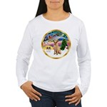 XmasMagic/Lab (yllow) Women's Long Sleeve T-Shirt