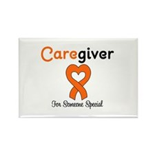 Caregiver Orange Ribbon Rectangle Magnet (10 pack)
