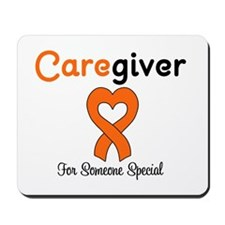 Caregiver Orange Ribbon Mousepad