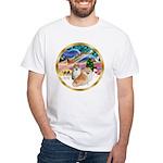 XmasMagic/2 Pomeranians White T-Shirt
