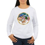 XmasMagic/2 Pomeranians Women's Long Sleeve T-Shir