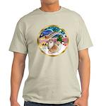 XmasMagic/2 Pomeranians Light T-Shirt