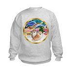 XmasMagic/2 Pomeranians Kids Sweatshirt