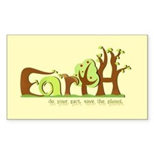 Save Earth Rectangle Sticker 50 pk)