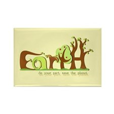 Save Earth Rectangle Magnets (10 pk)