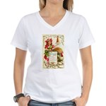 Thanksgiving Menu Women's V-Neck T-Shirt