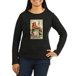Thanksgiving Menu Women's Long Sleeve Dark T-Shirt