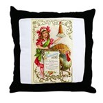 Thanksgiving Menu Throw Pillow