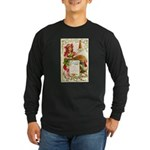 Thanksgiving Menu Long Sleeve Dark T-Shirt