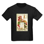 Thanksgiving Menu Kids Dark T-Shirt