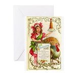 Thanksgiving Menu Greeting Cards (Pk of 10)