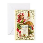 Thanksgiving Menu Greeting Card