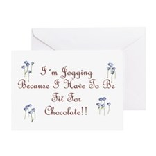 Fit For Chocolate script Greeting Card
