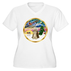 XmasMagic/Beardie #16 Women's Plus Size V-Neck T-S