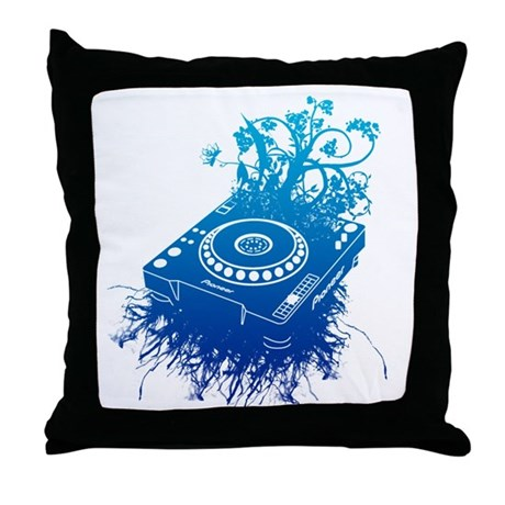 Organic CDJ-1000 Throw Pillow