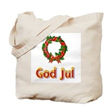God Jul Wreath Tote Bag