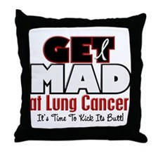 Get Mad At Lung Cancer 2 Throw Pillow