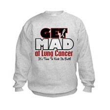 Get Mad At Lung Cancer 2 Sweatshirt