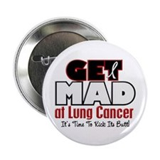 "Get Mad At Lung Cancer 2 2.25"" Button (100 pack)"
