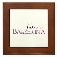 Future Ballerina Framed Tile