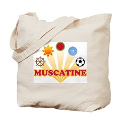 Muscatine icons Tote Bag