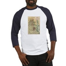 Virginia Civil War Map Baseball Jersey