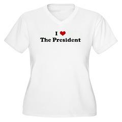 I Love The President Women's Plus Size V-Neck T-Sh