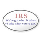 IRS Oval Decal