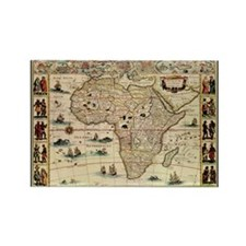 Ancient Africa Map Rectangle Magnet (10 pack)