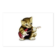 Cat Playing Guitar Postcards (Package of 8)