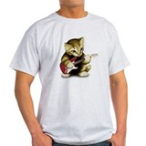 Cat Playing Guitar T-Shirt