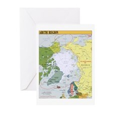 Arctic Polar Map Greeting Cards (Pk of 20)