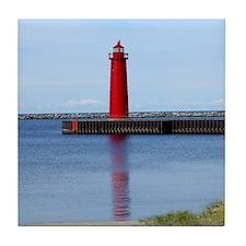 Muskegon Lighthouse Tile Coaster