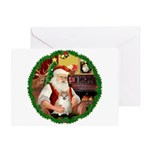 Santa's Pomeranian #1 Greeting Card