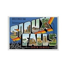 Sioux falls SD Rectangle Magnet