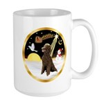 Night Flight/Poodle Std(choc) Large Mug