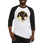 Night Flight/Poodle Std(choc) Baseball Jersey