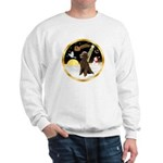 Night Flight/Poodle Std(choc) Sweatshirt
