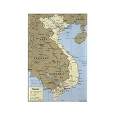 Vietnam Asia Map Rectangle Magnet