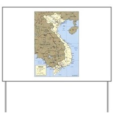 Vietnam Asia Map Yard Sign
