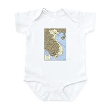 Vietnam Asia Map Infant Bodysuit